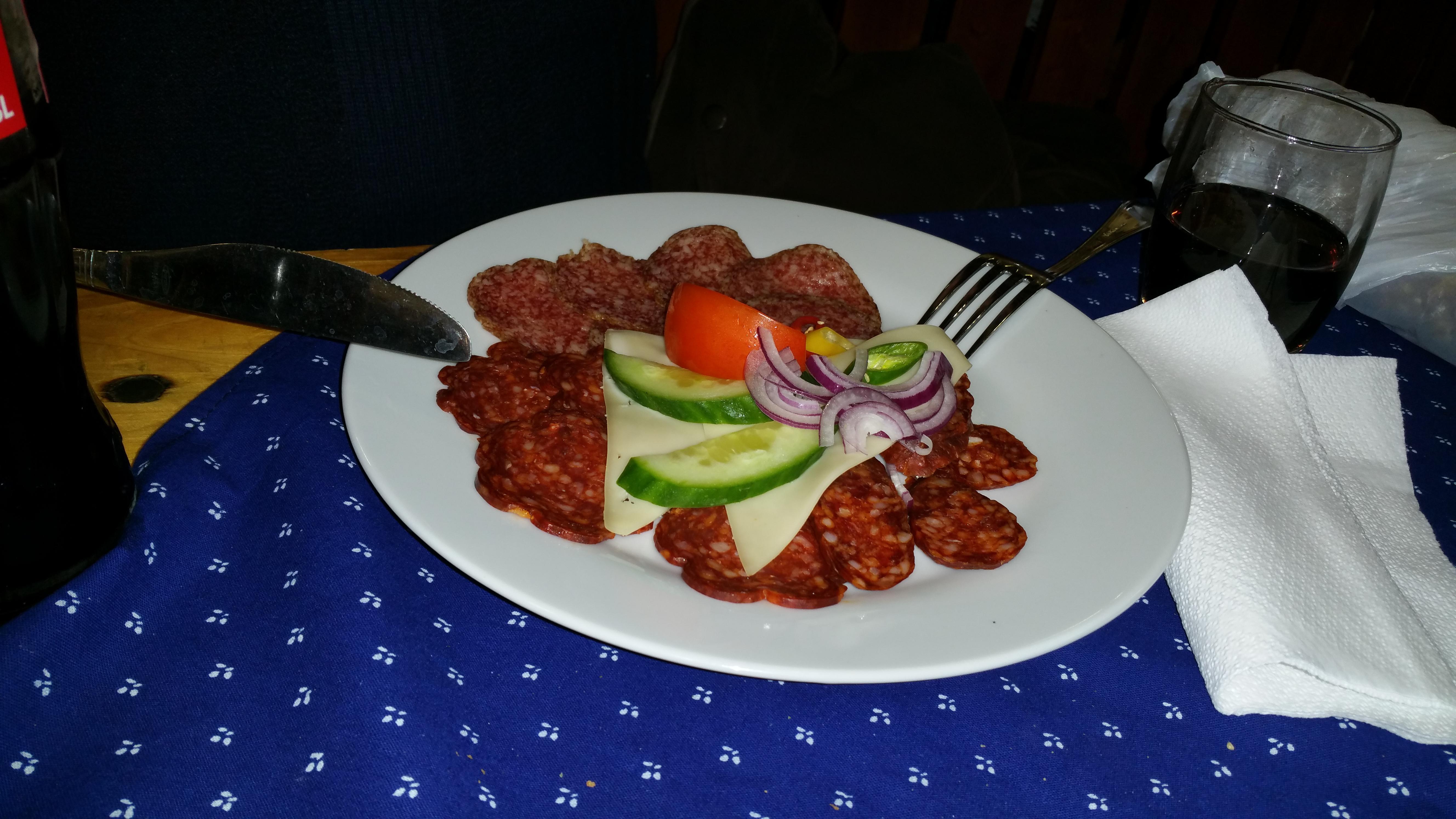 Impression von der Grünen Woche - Ungarische Wurstplatte - sehr lecker