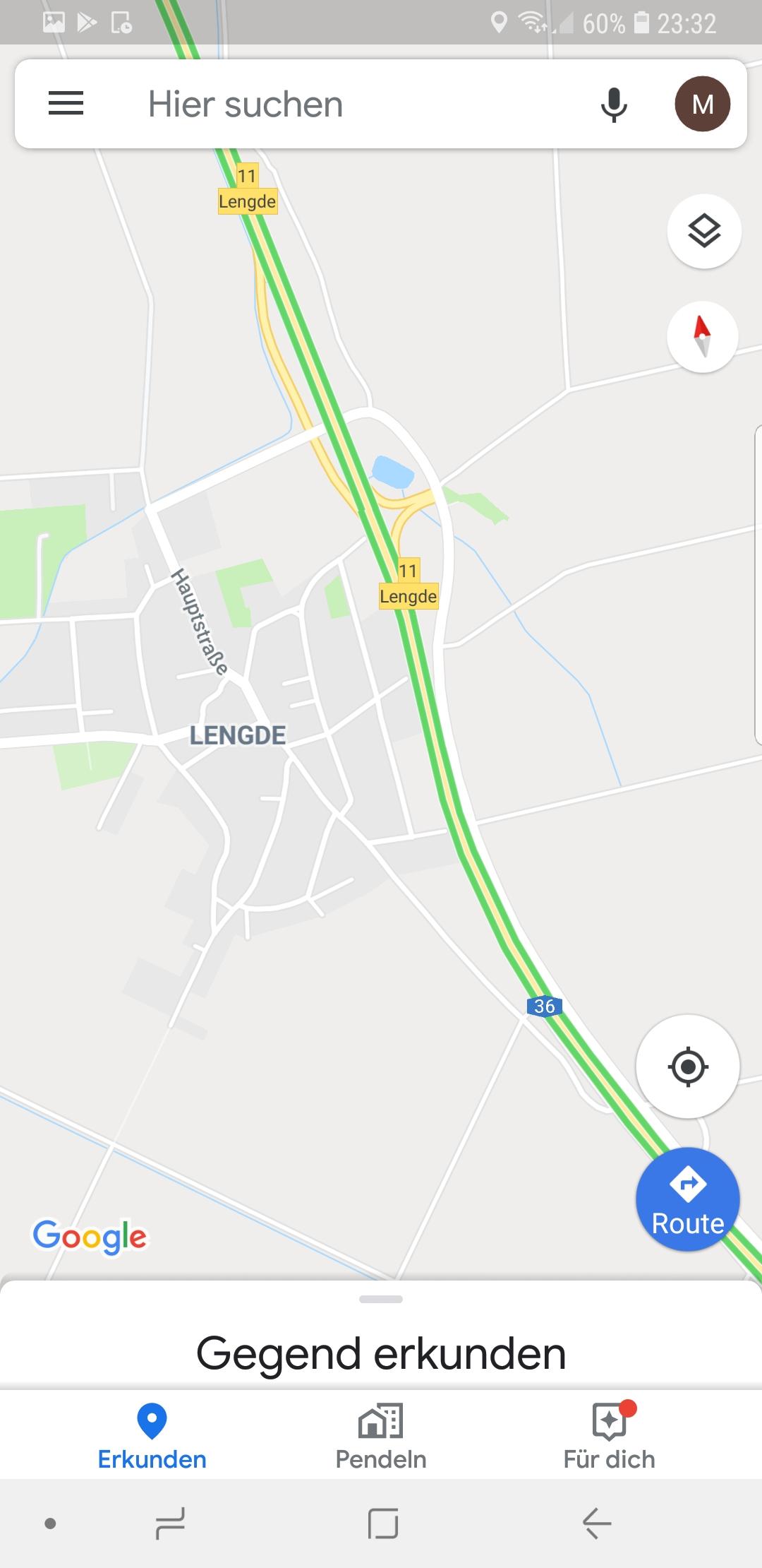 Lengde - Auszug aus Google Maps